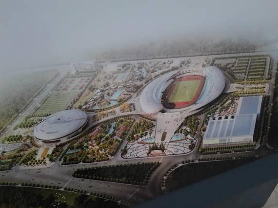 贵州六盘水体育中心规划图