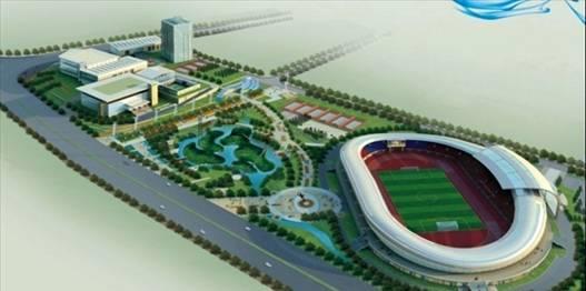 泸州市奥体中心规划全景图