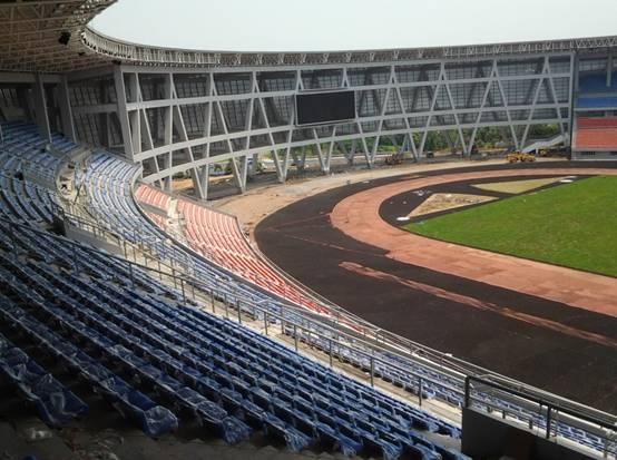 泸州市奥体中心主体育场施工现场