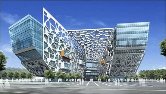 alibaba杭州总部大楼全景
