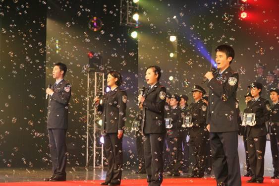 深圳公安局2013年入警仪式歌唱表演