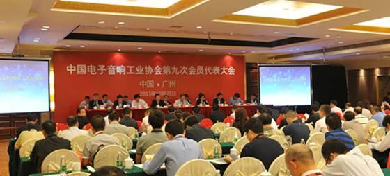 中国电子音响工业协会第九次会员代表大会会议现场