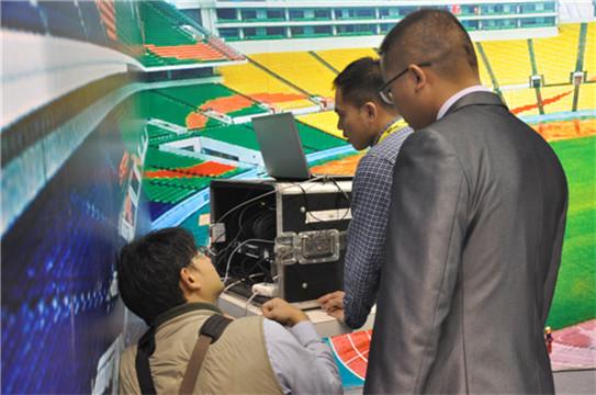 C-MARK数字化体育场馆系统区吸引着观展嘉宾