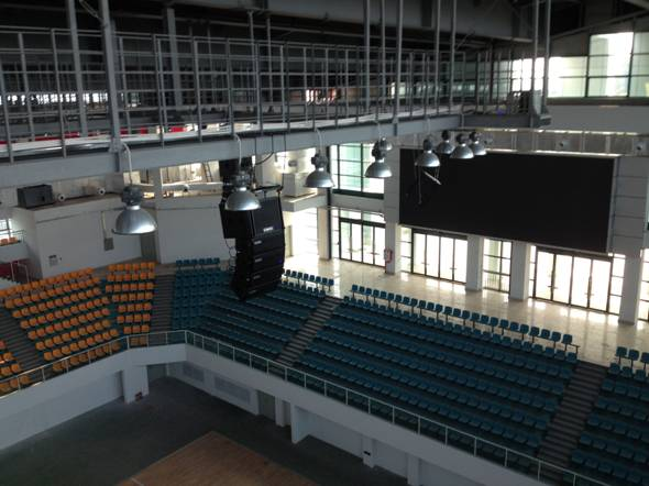C-MARK有源线阵音箱保障着体育馆顺利举办各类活动与赛事