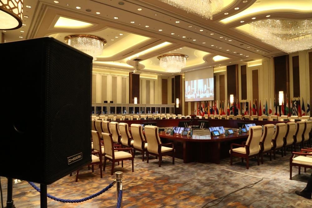 位于乌兰巴托香格里拉大酒店的亚欧首脑峰会主会场图片